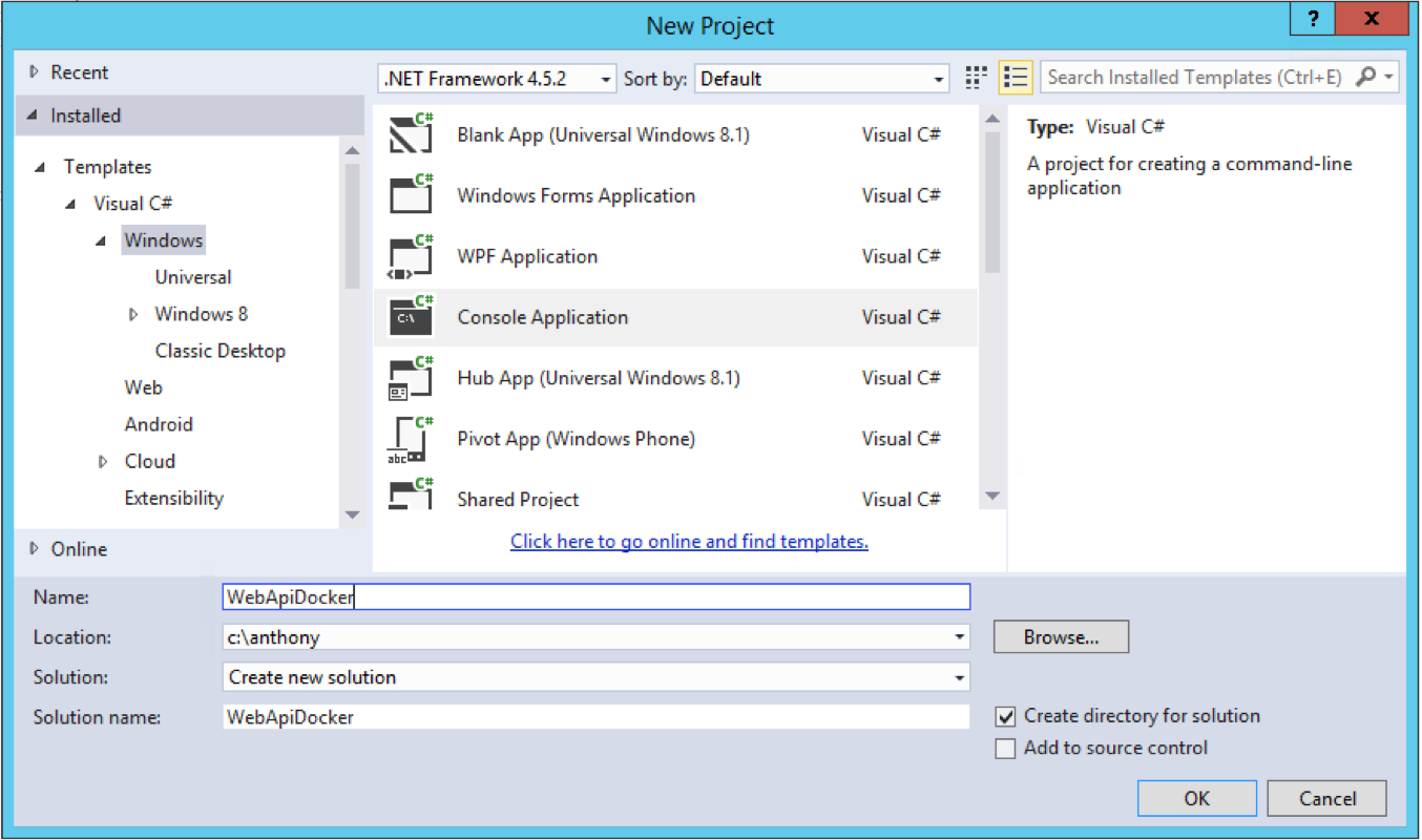 how to create web api in visual studio 2015