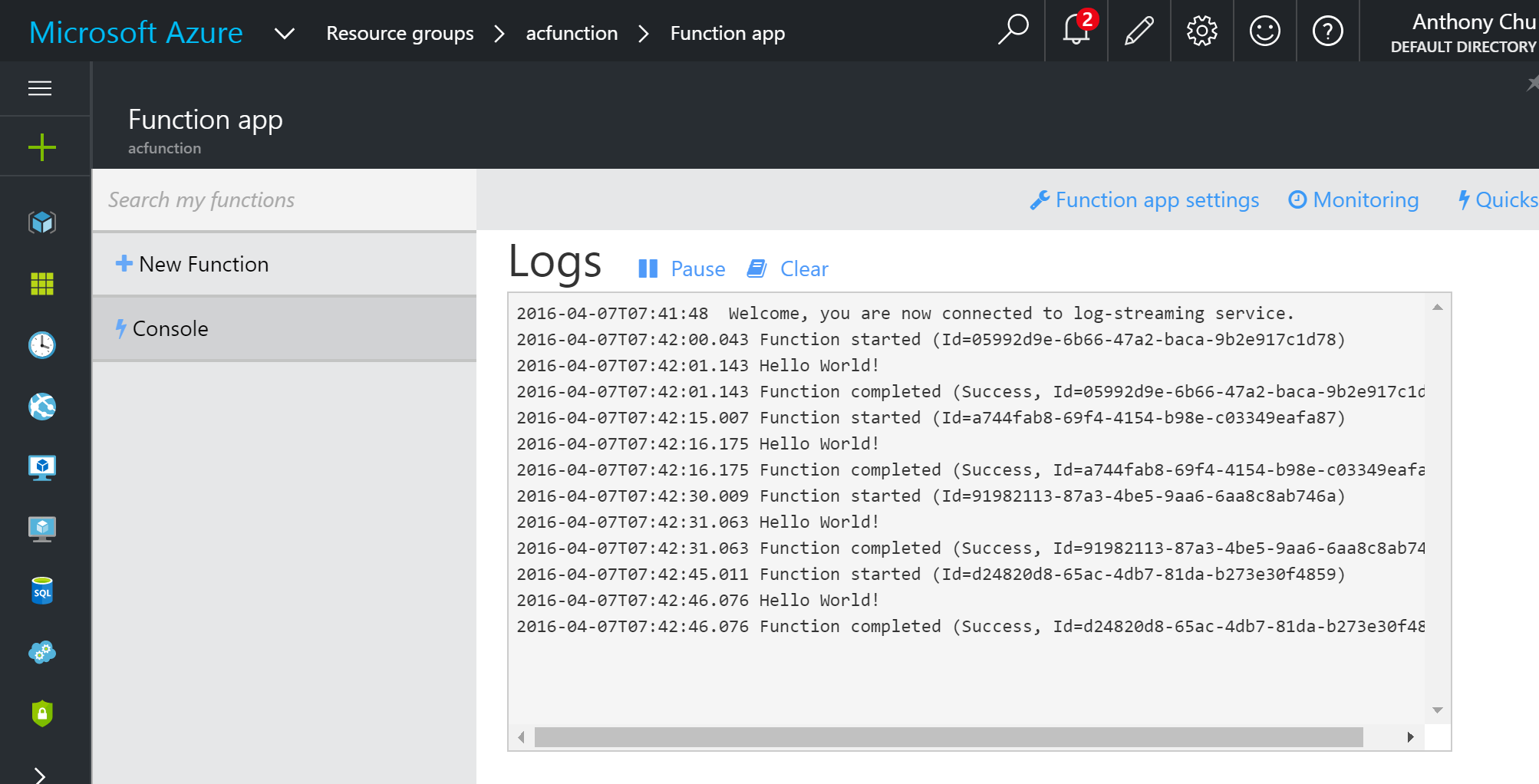 Running Scheduled Executables in Azure Functions
