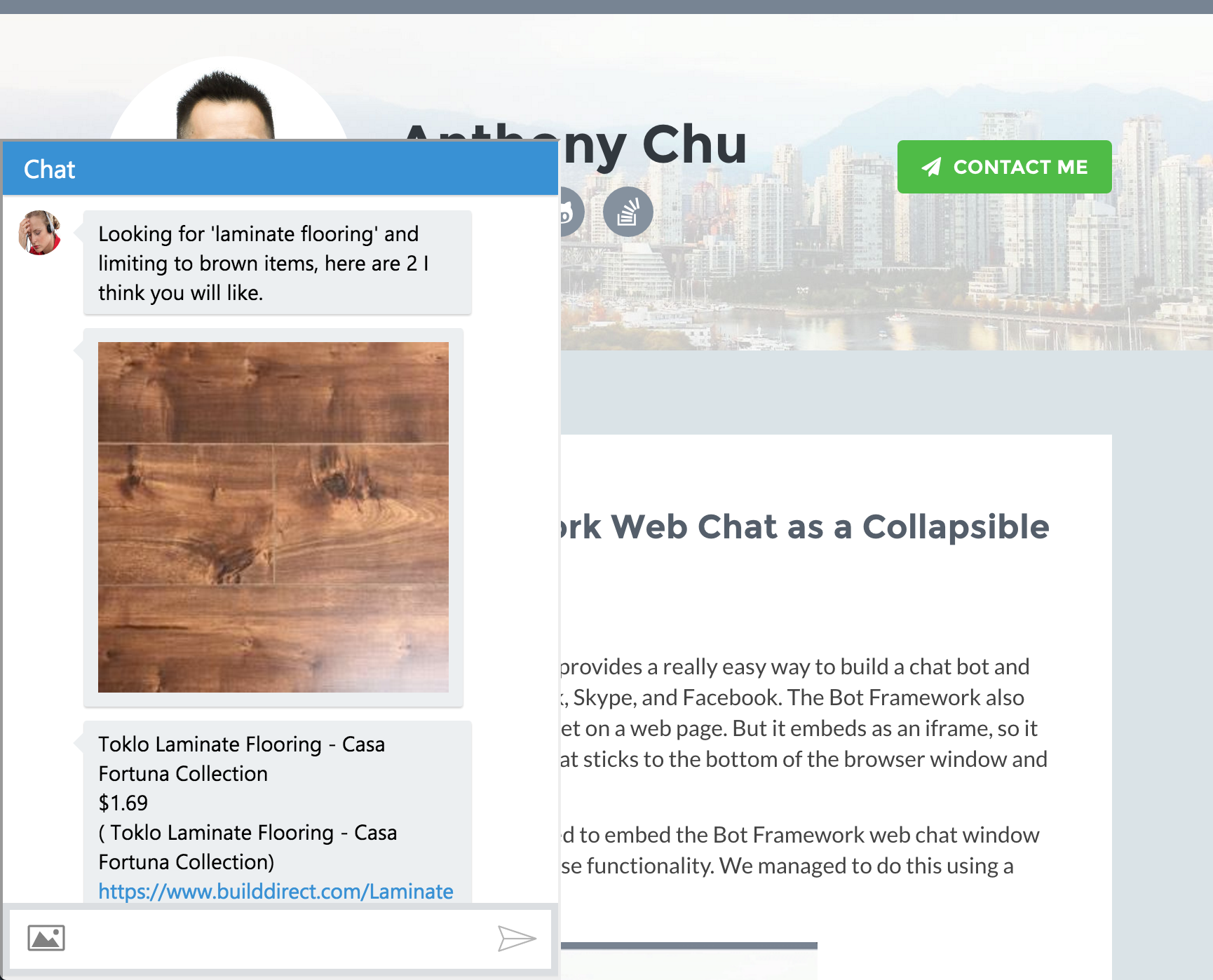Embed the Bot Framework Web Chat as a Collapsible Window