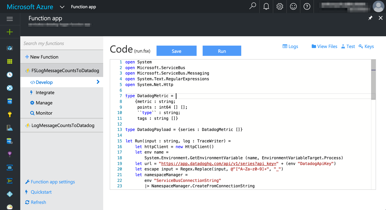 Learning F# with Azure Functions