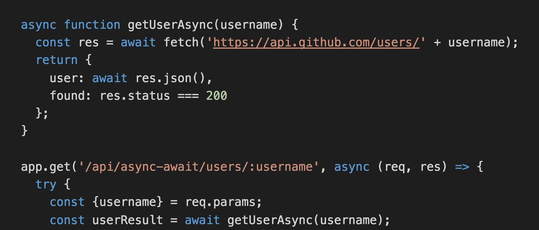 Using ES2017 async/await in Node