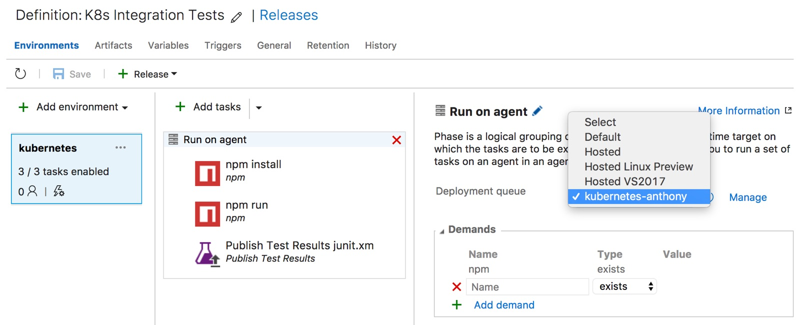 Running a VSTS Docker Agent in Kubernetes