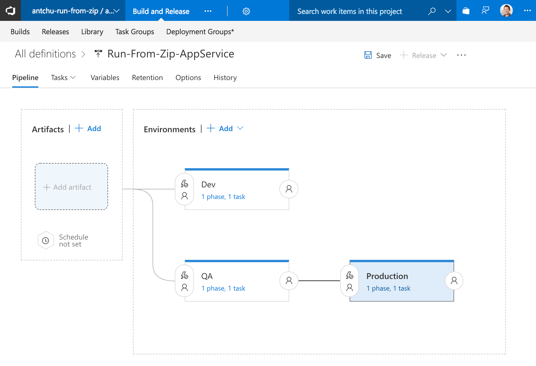 Using VSTS to Deploy to Azure Functions and App Service with