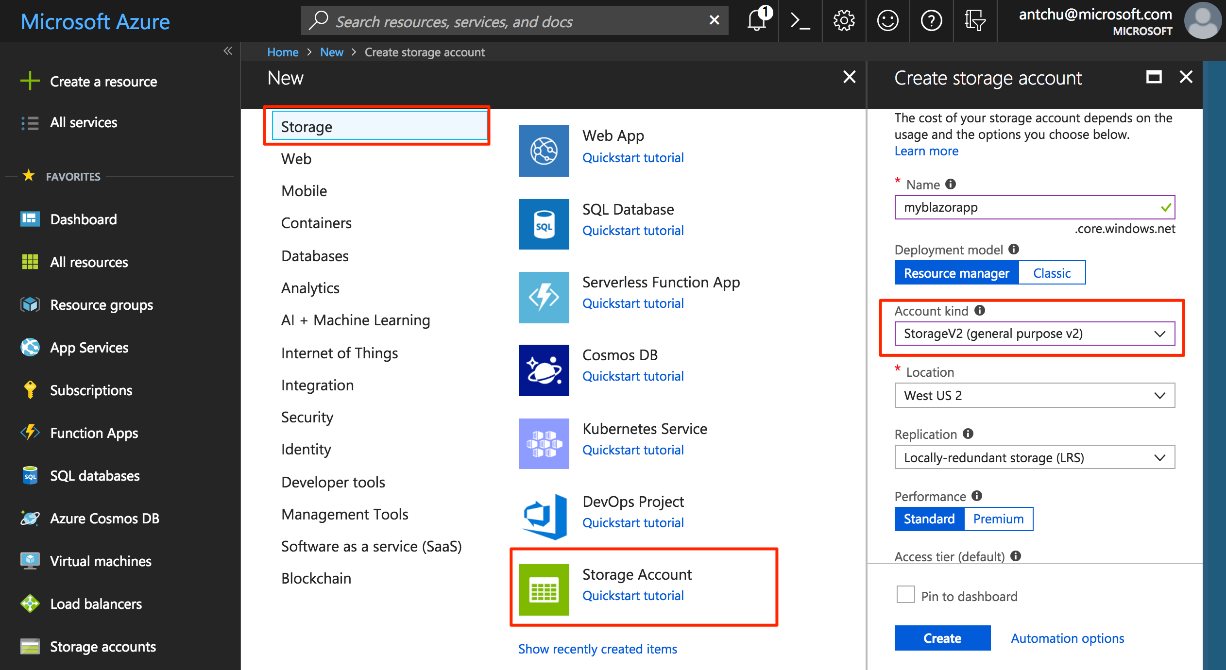 Hosting a Blazor App in Azure Storage Static Websites