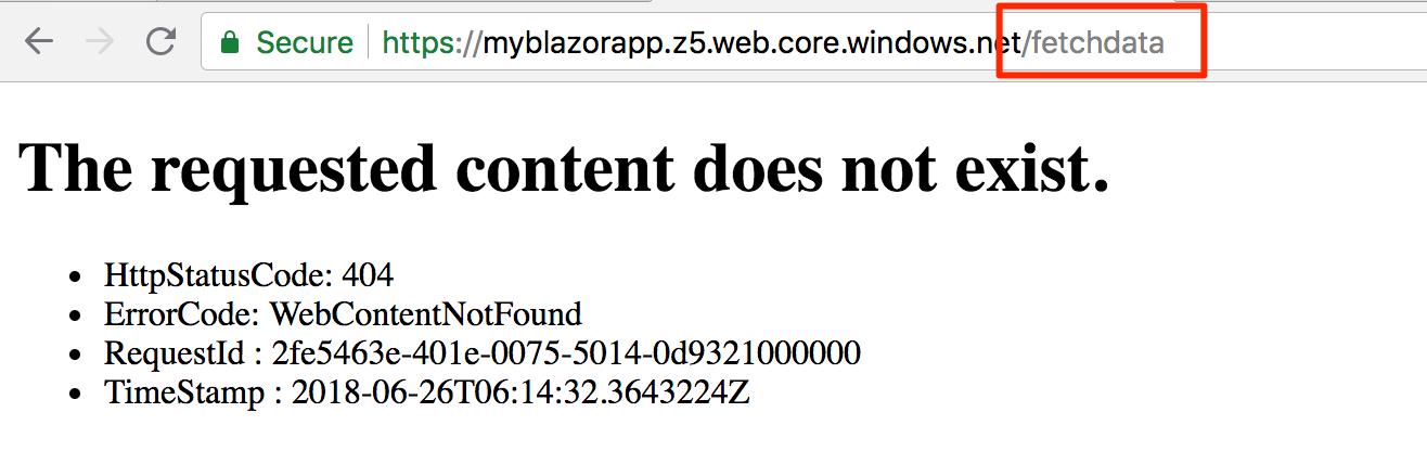 Hosting a Blazor App in Azure Storage Static Websites
