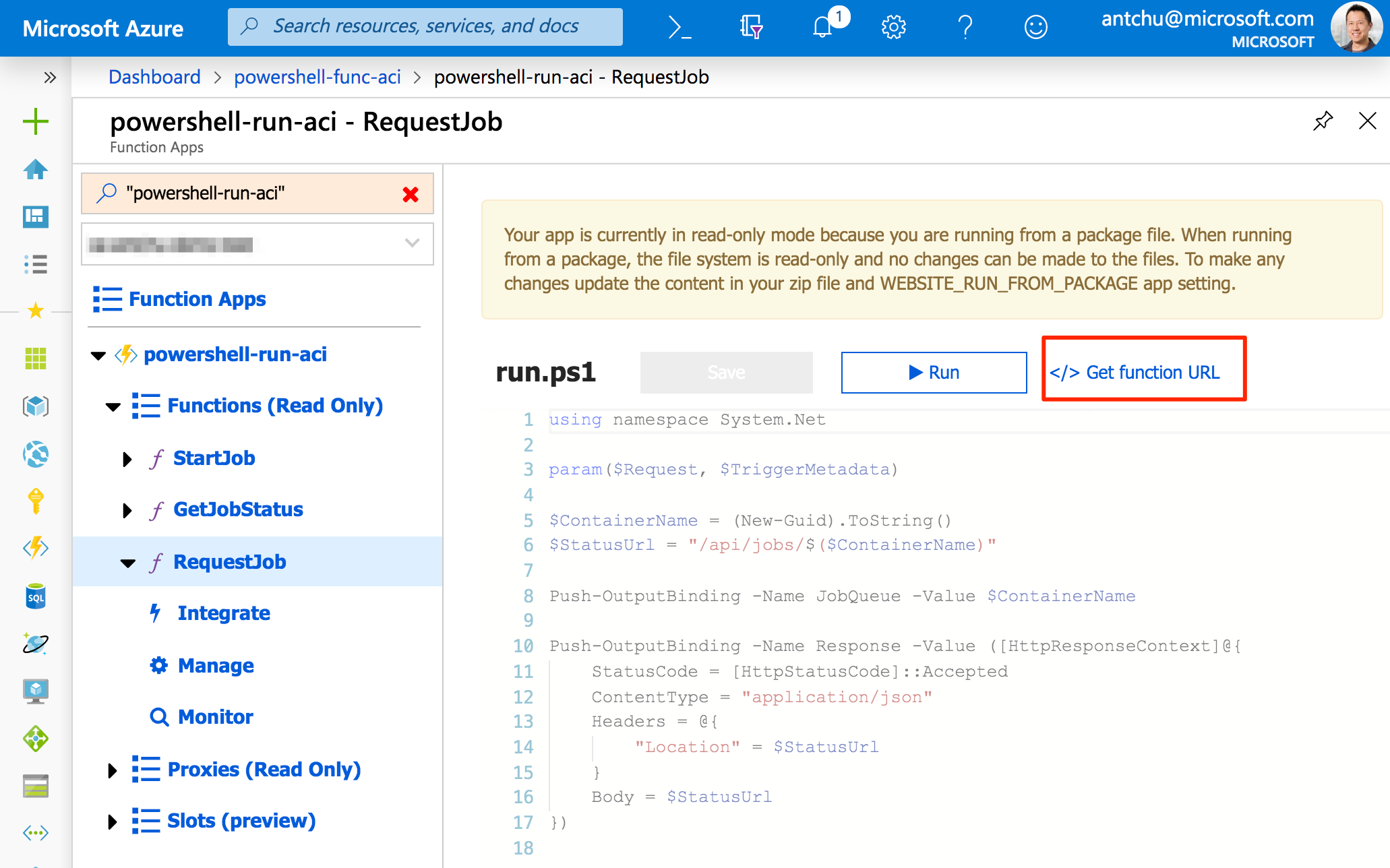 Event-Driven Serverless Containers with PowerShell Azure Functions